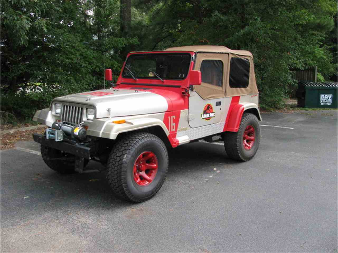 1995 Jeep Wrangler Rio Grande Jurassic Park for Sale