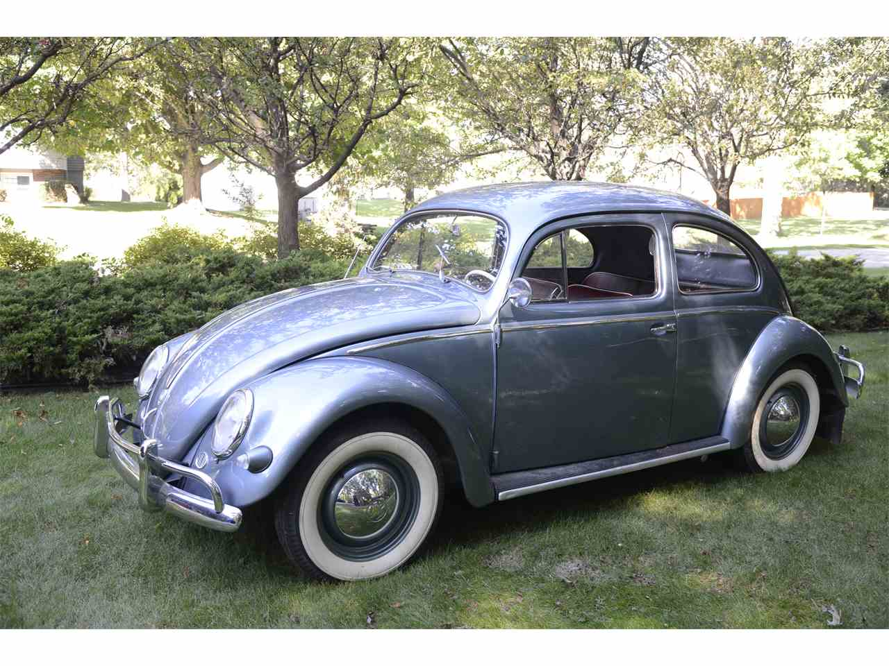 1957 volkswagen beetle for sale cc 1026516. Black Bedroom Furniture Sets. Home Design Ideas