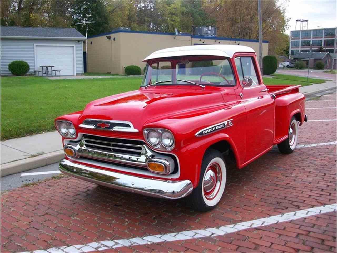 1959 chevrolet apache step side pickup for sale cc 1036502. Black Bedroom Furniture Sets. Home Design Ideas