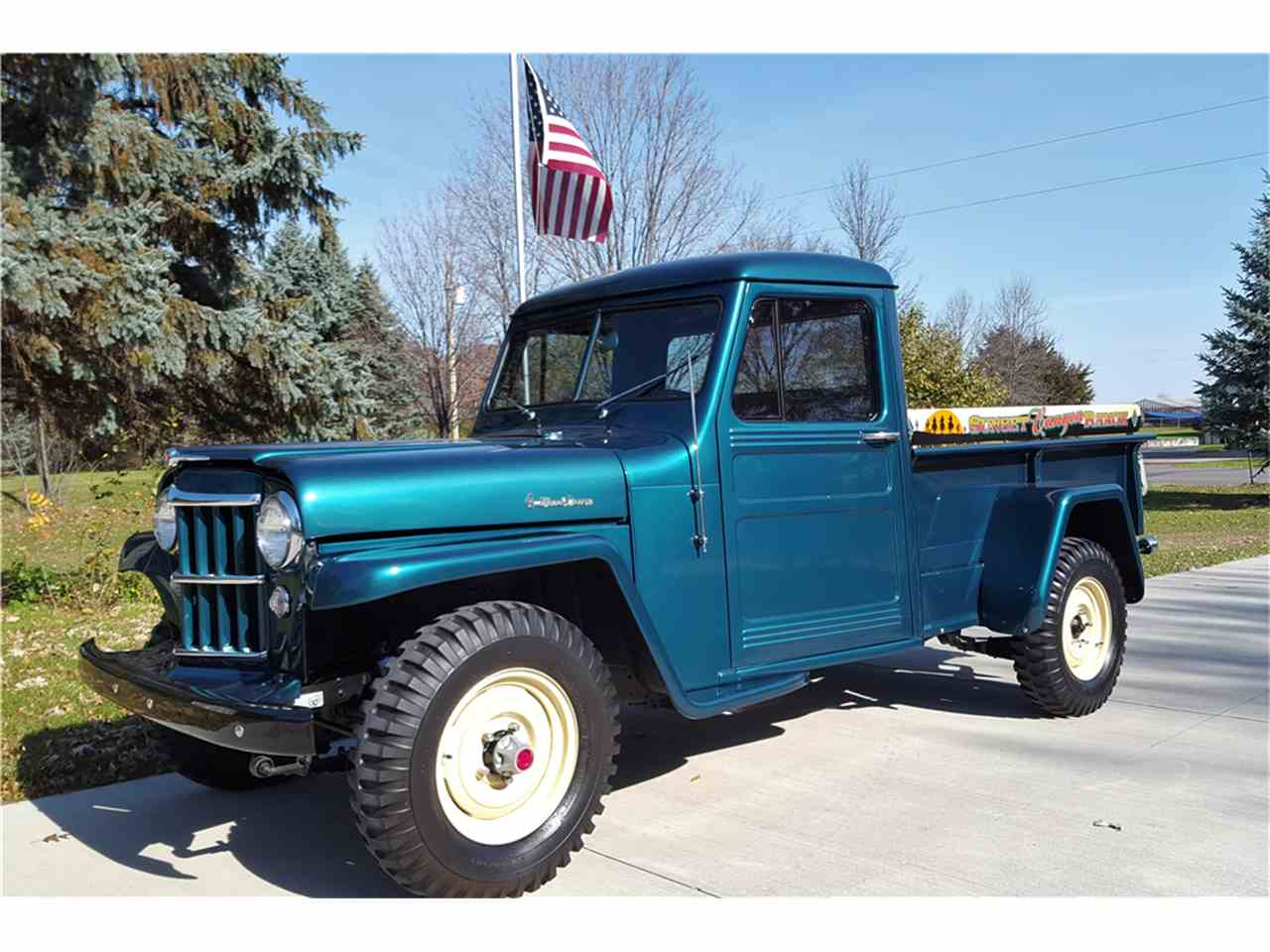 1955 willys jeep for sale cc 1047349. Black Bedroom Furniture Sets. Home Design Ideas