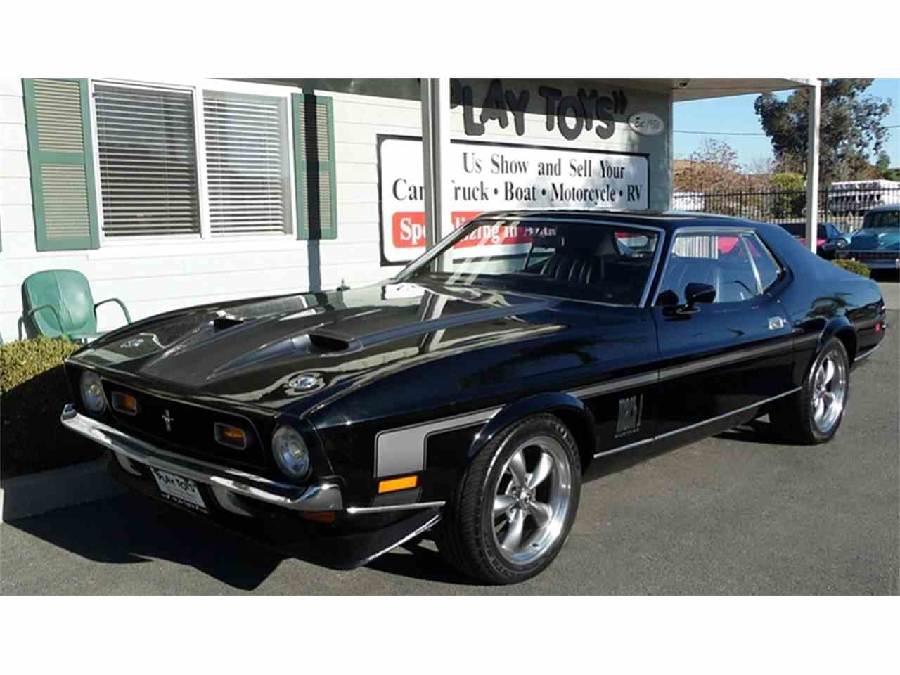 1972 ford mustang mach 1 for sale cc 1051637. Black Bedroom Furniture Sets. Home Design Ideas