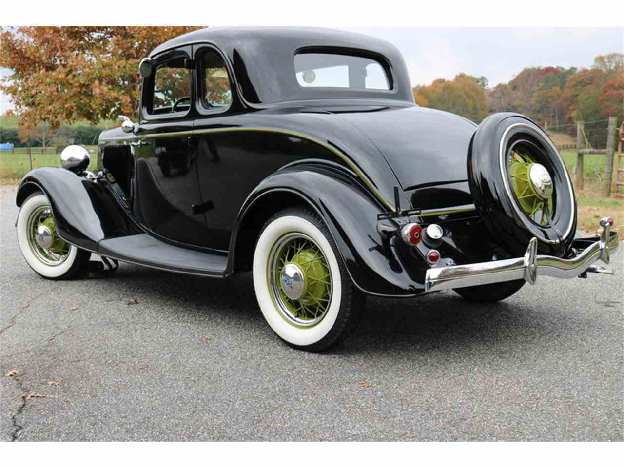 1934 ford 5 window coupe for sale cc 1053453. Black Bedroom Furniture Sets. Home Design Ideas