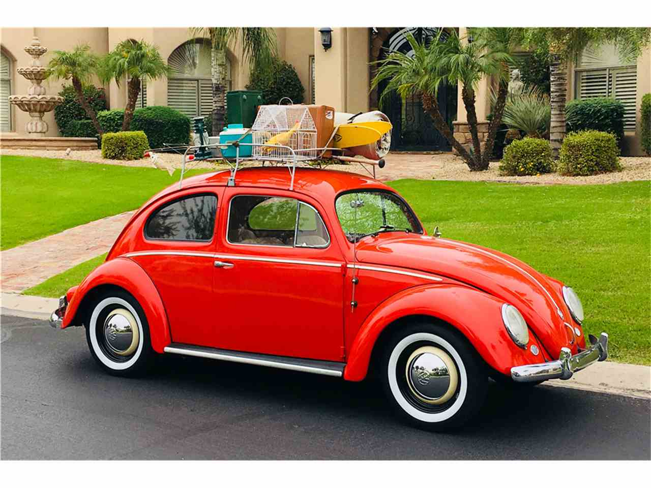 1957 volkswagen beetle for sale cc 1055189. Black Bedroom Furniture Sets. Home Design Ideas