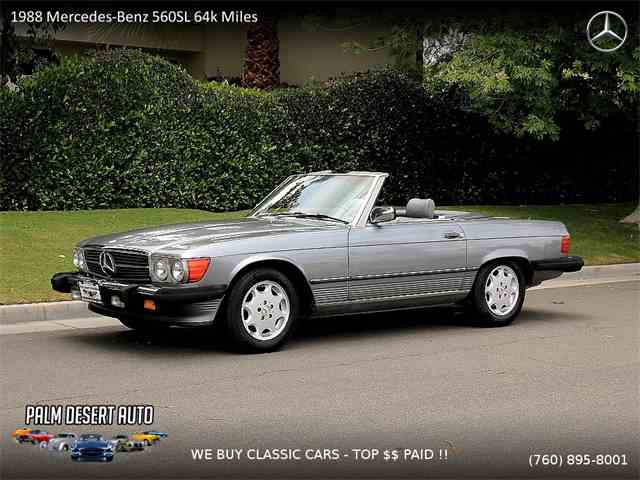 1988 mercedes benz 560sl for sale on for 1988 mercedes benz 560sl for sale
