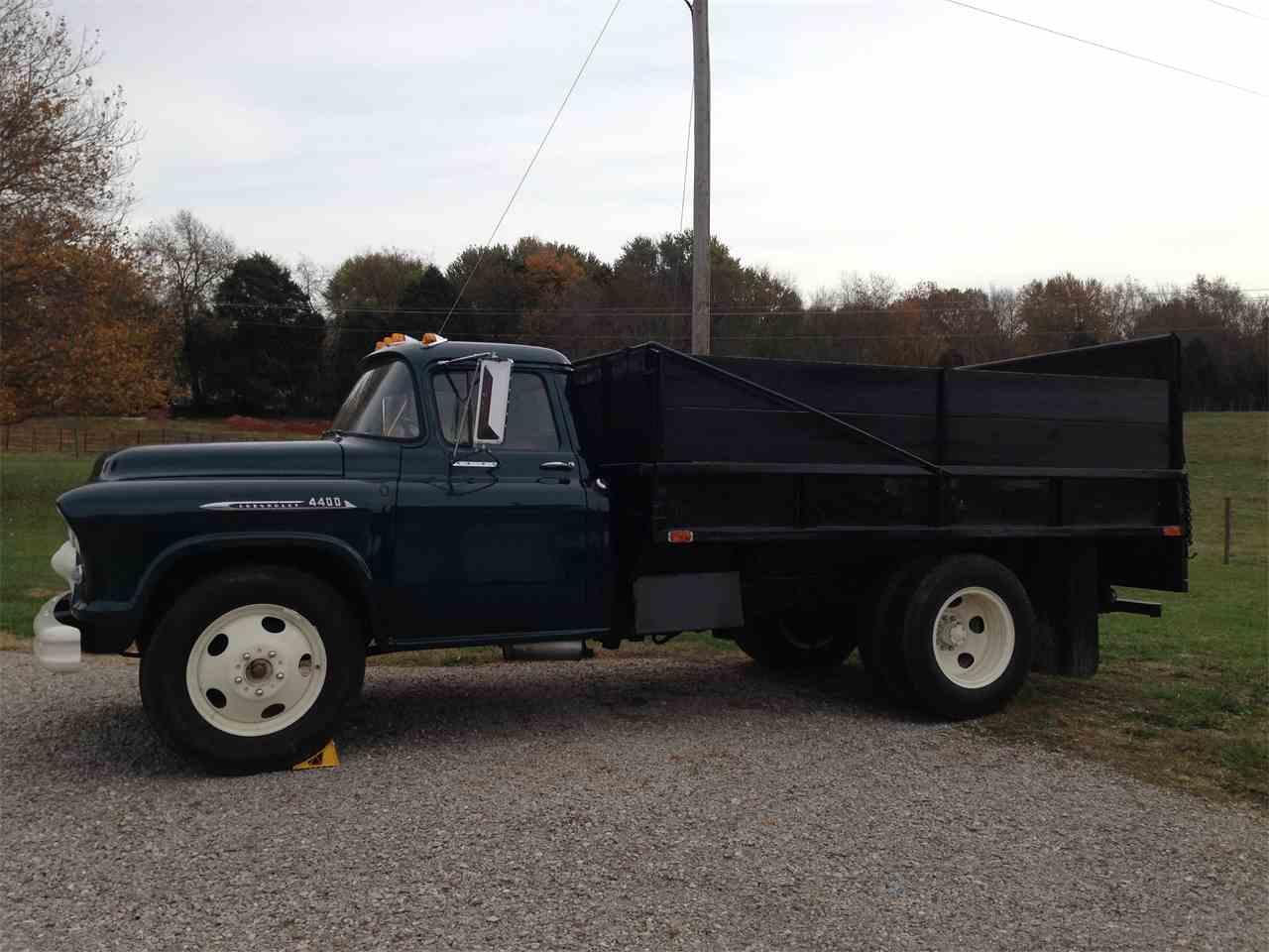 1956 chevrolet dump truck for sale cc 602996. Black Bedroom Furniture Sets. Home Design Ideas