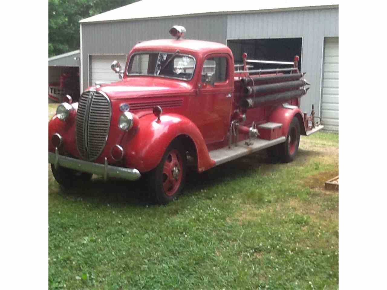 1938 ford fire truck for sale cc 679664. Black Bedroom Furniture Sets. Home Design Ideas