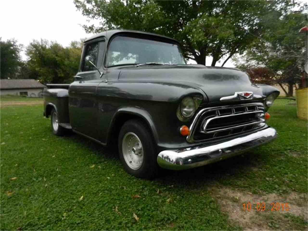 1957 chevrolet 1 2 ton pickup for sale cc 710438. Black Bedroom Furniture Sets. Home Design Ideas
