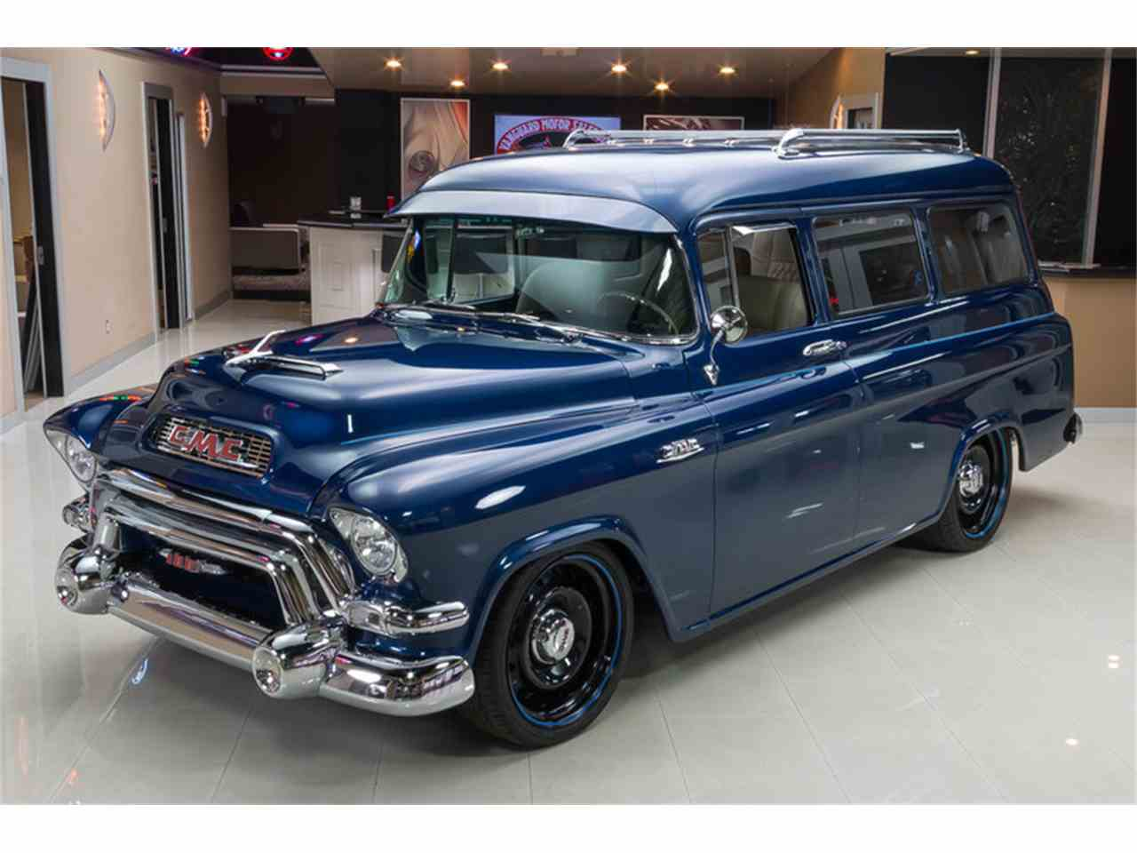 1955 gmc suburban for sale cc 730278. Black Bedroom Furniture Sets. Home Design Ideas