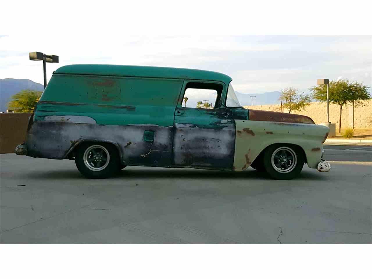 1957 chevrolet panel truck for sale cc 753027. Black Bedroom Furniture Sets. Home Design Ideas