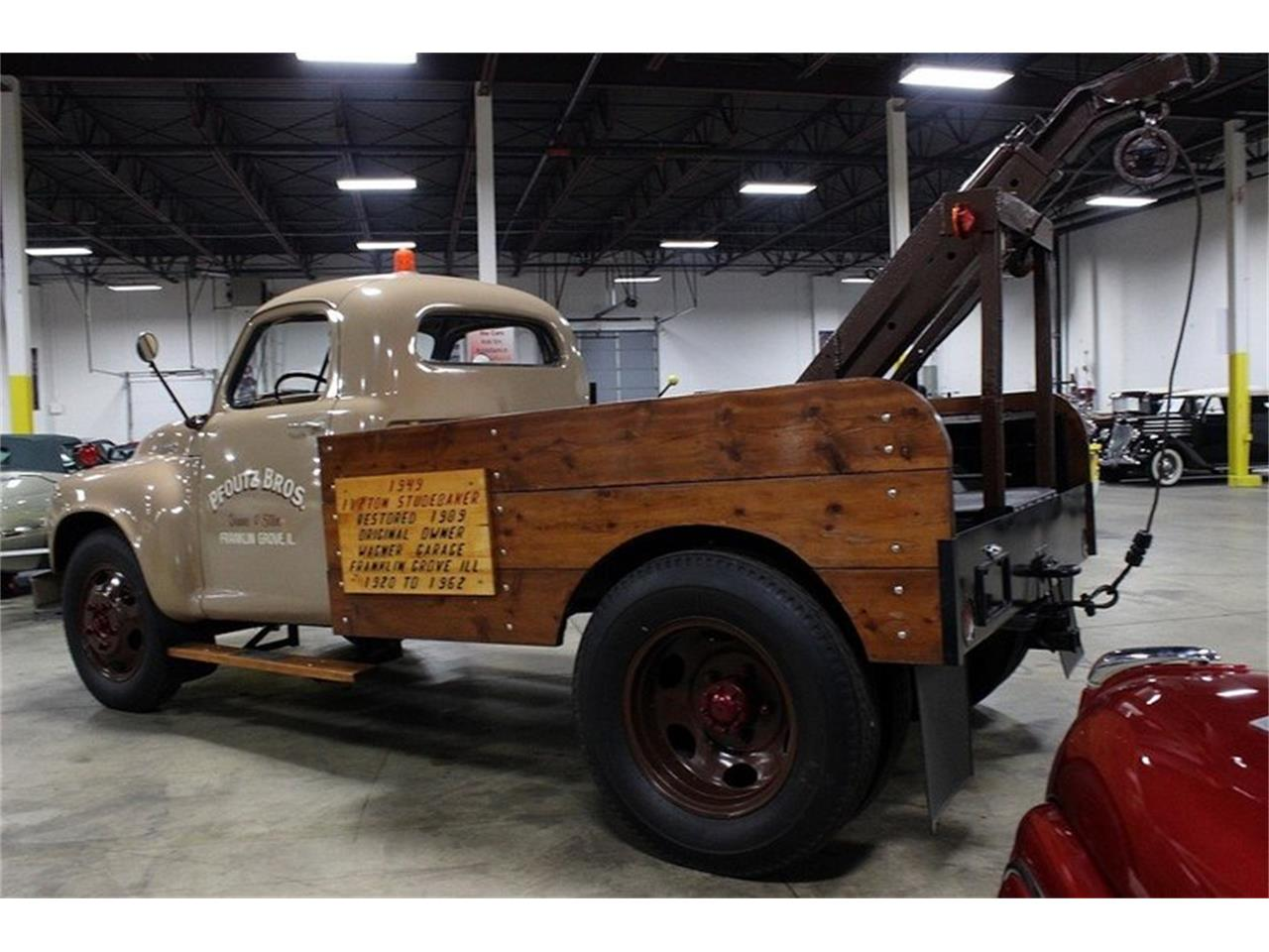 1949 studebaker 1 1 2 ton tow truck for sale cc 803318. Black Bedroom Furniture Sets. Home Design Ideas