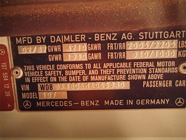 1987 Mercedes-Benz 560SL | 804528