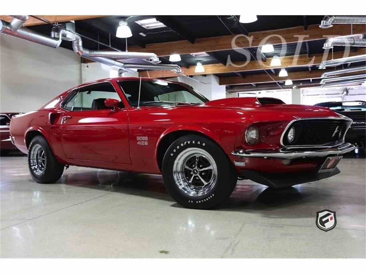 1969 ford mustang 429 boss for sale cc 886188. Black Bedroom Furniture Sets. Home Design Ideas