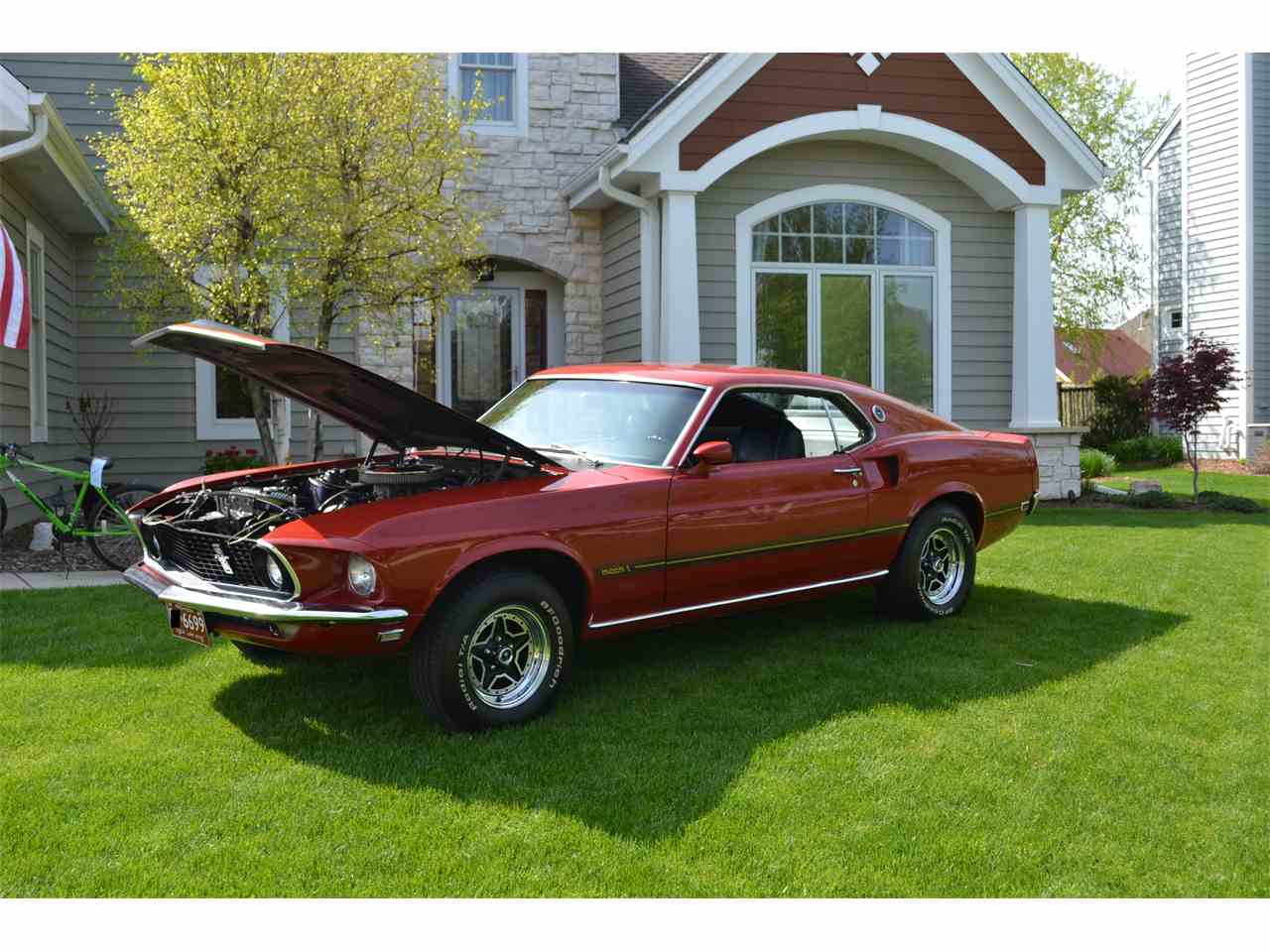 1969 ford mustang mach 1 for sale cc 886570. Black Bedroom Furniture Sets. Home Design Ideas