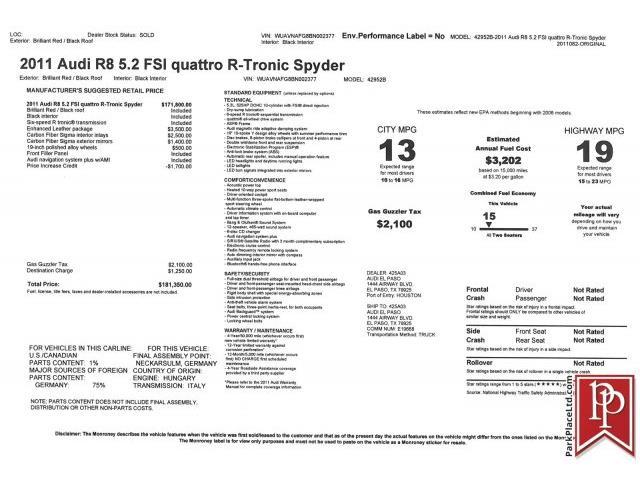 2011 Audi R8 | 957879