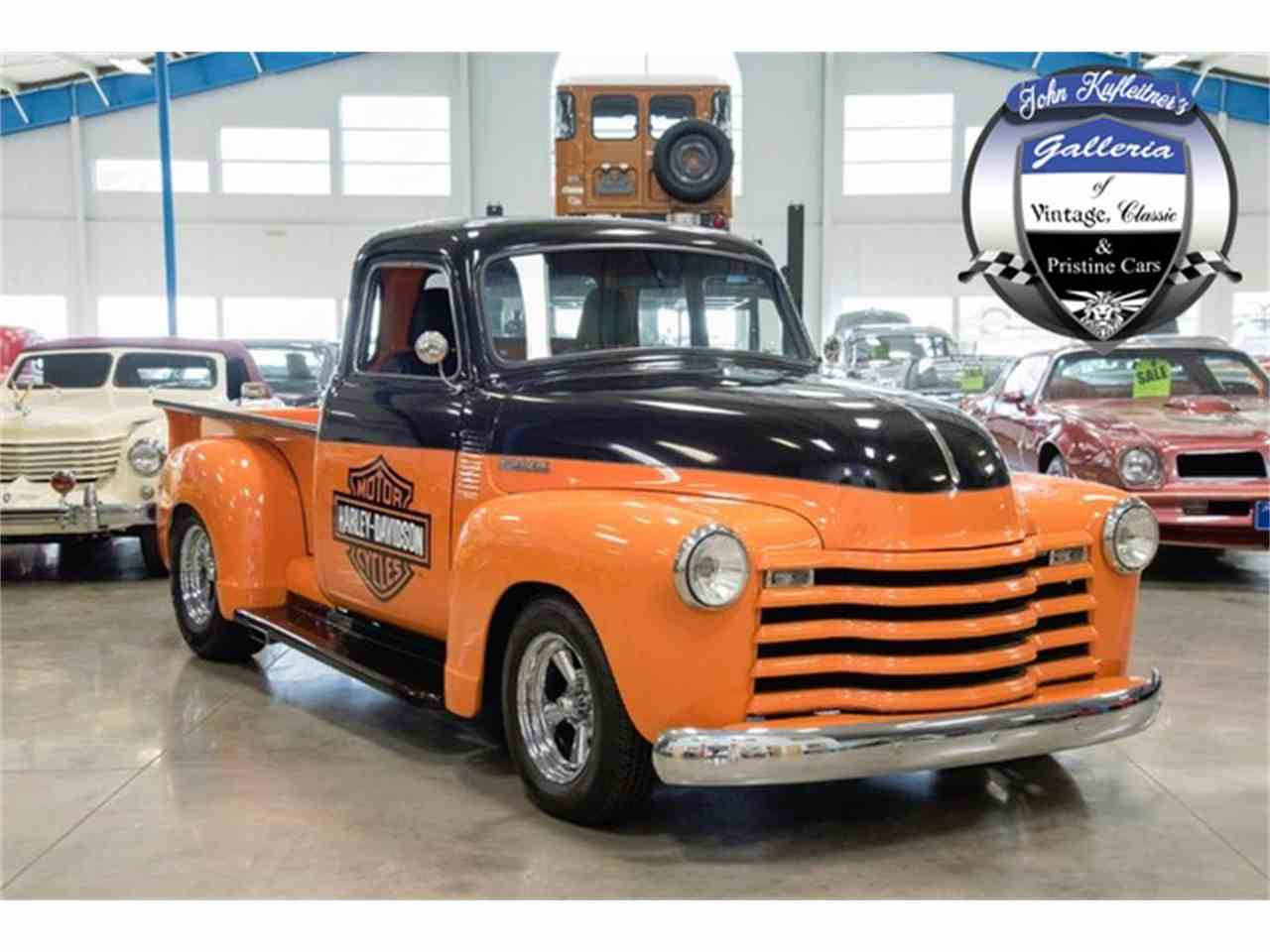 1950 chevrolet 3100 harley davidson themed pick up for sale cc 973312. Black Bedroom Furniture Sets. Home Design Ideas