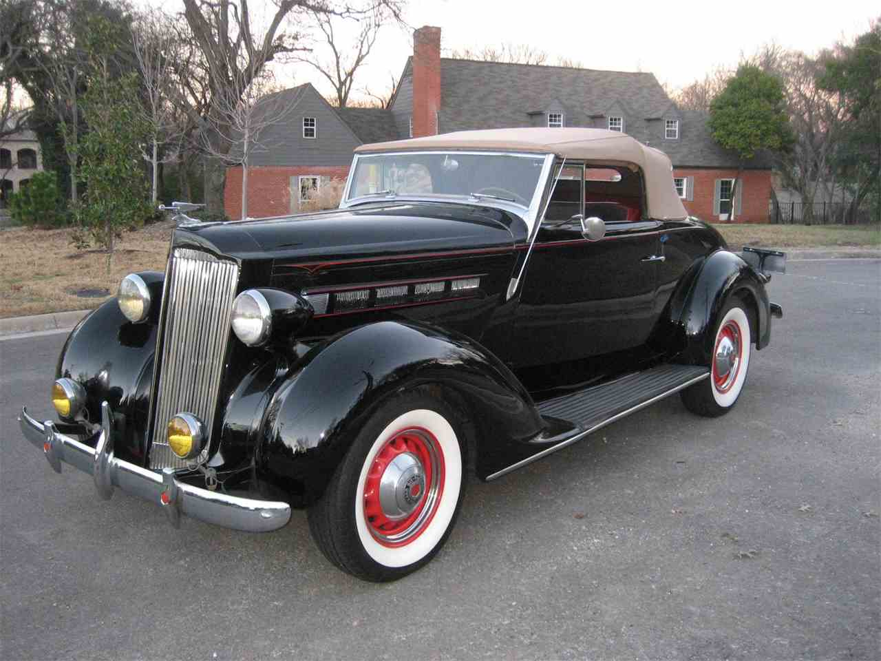 1937 packard 115c convertible coupe for sale cc 981012. Black Bedroom Furniture Sets. Home Design Ideas