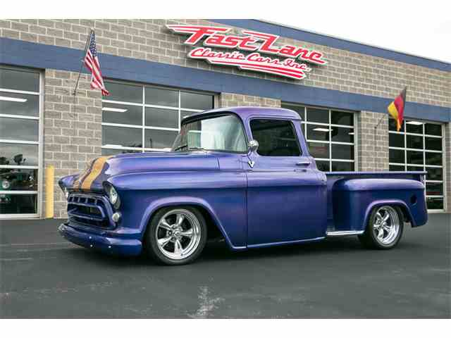 1957 chevrolet pickup for sale on 19 available. Black Bedroom Furniture Sets. Home Design Ideas