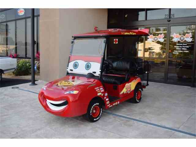 2013 Z Lightning McQueen EZ-GO RXV Golf Cart | 980135