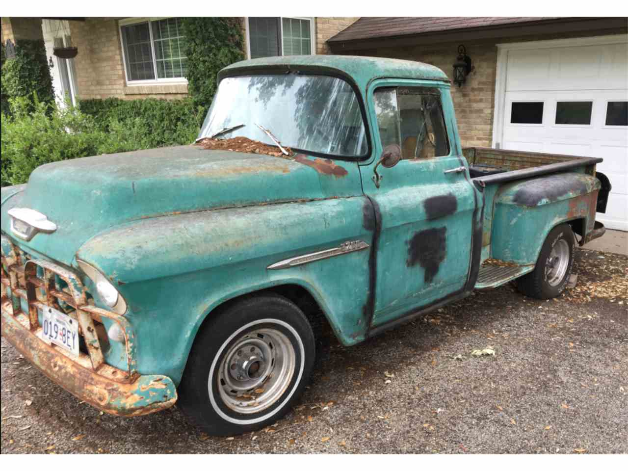 1955 chevrolet pickup for sale cc 985545. Black Bedroom Furniture Sets. Home Design Ideas