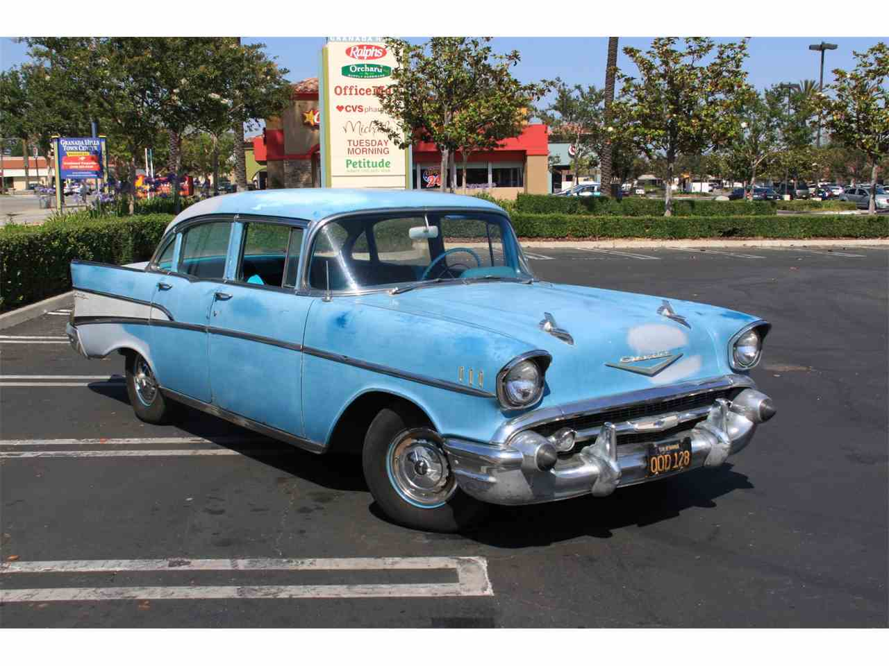 1957 chevrolet bel air for sale cc 988649. Black Bedroom Furniture Sets. Home Design Ideas