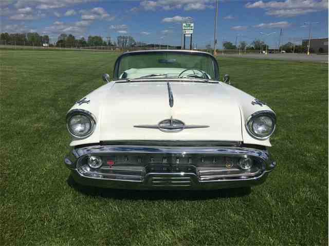 1957 Oldsmobile 98 conv white