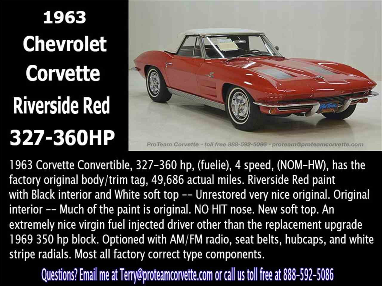 Large Picture of '63 Chevrolet Corvette located in Napoleon Ohio - $69,995.00 Offered by Proteam Corvette Sales - LALZ