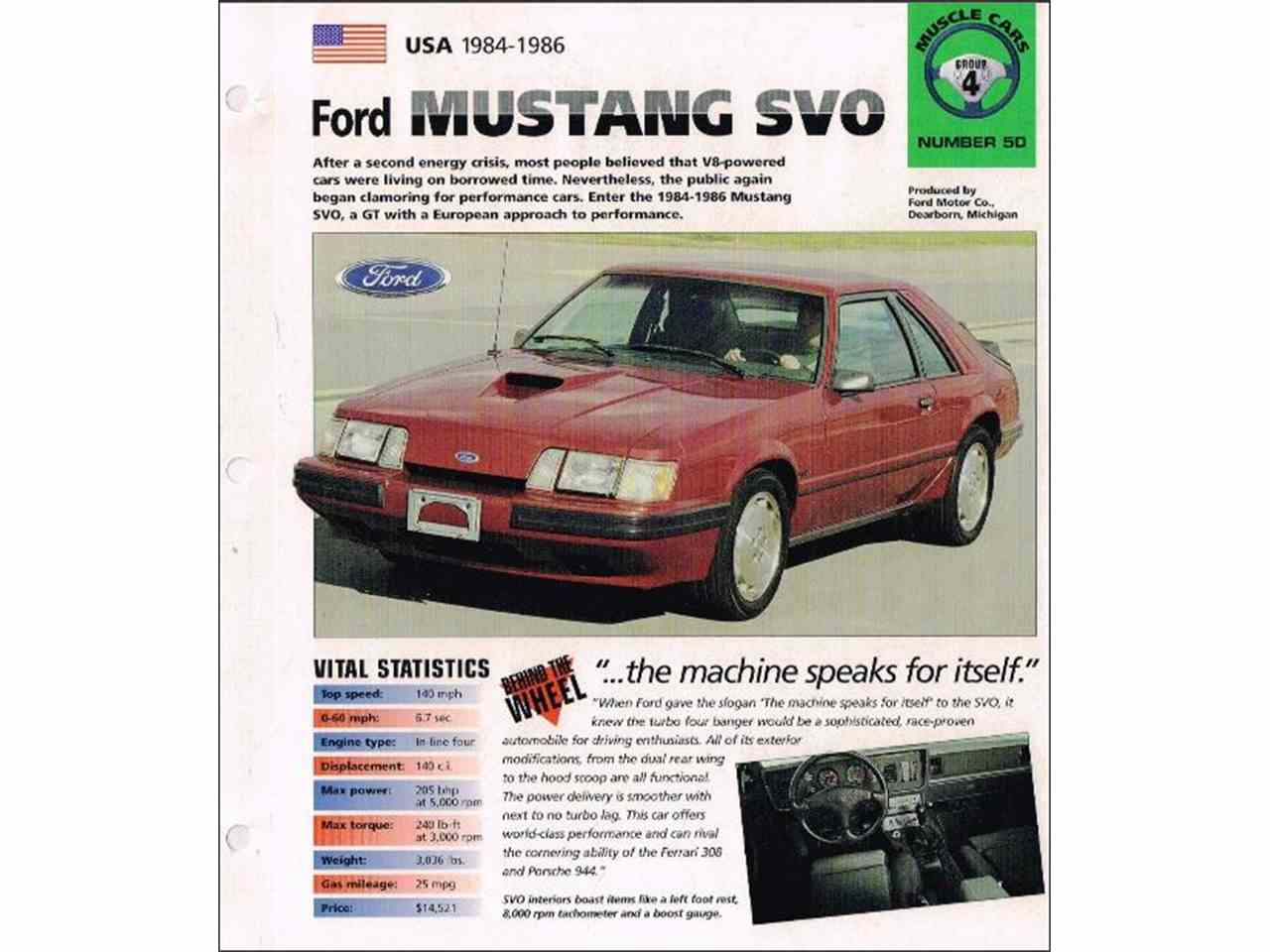 Large Picture of 1986 Ford Mustang SVO located in Naperville Illinois Offered by a Private Seller - L8BI